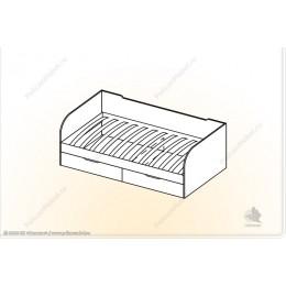 """Кровать с ящ. """"Мозаика"""" КЯ"""
